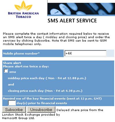 BAT stock alert