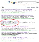 Dell: Google results
