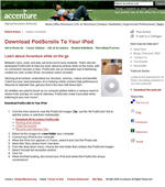 Accenture using podscrolls in Careers