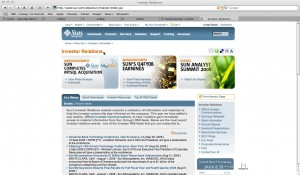 Sun Investor Relations Page