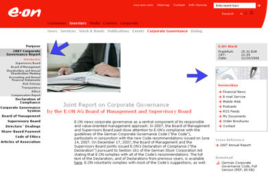 eonreport1 E.ON: Communication and Corporate Governance