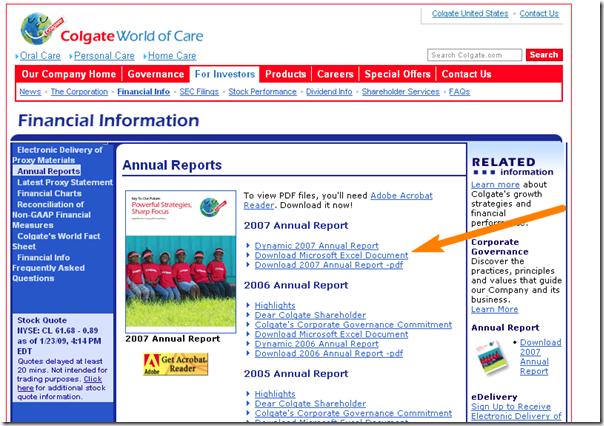 Colgate.com - Annual Reports