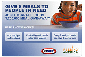 kraft facebook application feed america Cause Marketing Boosts Brand Marketing on Facebook for Kraft