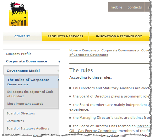 ENI rules