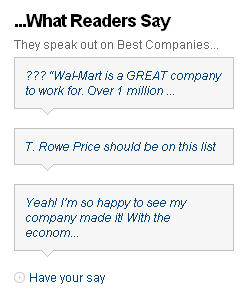 Fortune Top 100 comments