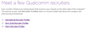 qualcomm recruiters Details, Details