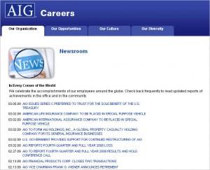 AIG Careers News