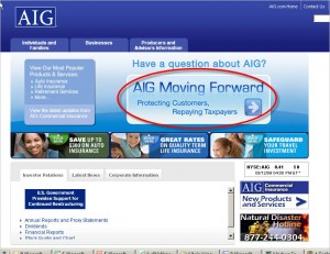 AIG home page
