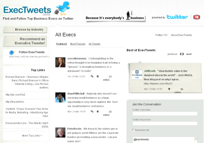 exectweets Are Your Executives on Twitter and ExecTweets.com?  