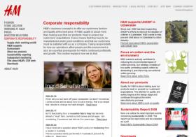 H&M CSR landing page