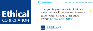 ethical corp tweet Using social media to promote your conference