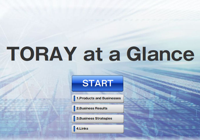 torayatglance Toray Group Website    Effective Use Of Visuals