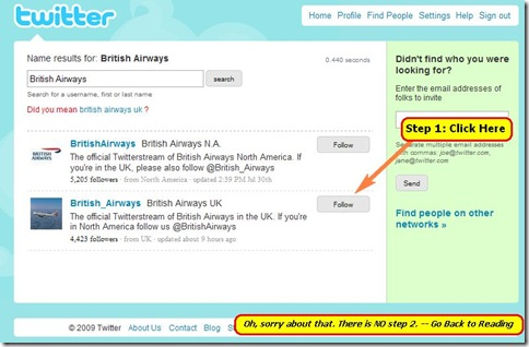 twitterbritishairways thumb Harness Twitter Power for Investor Relations