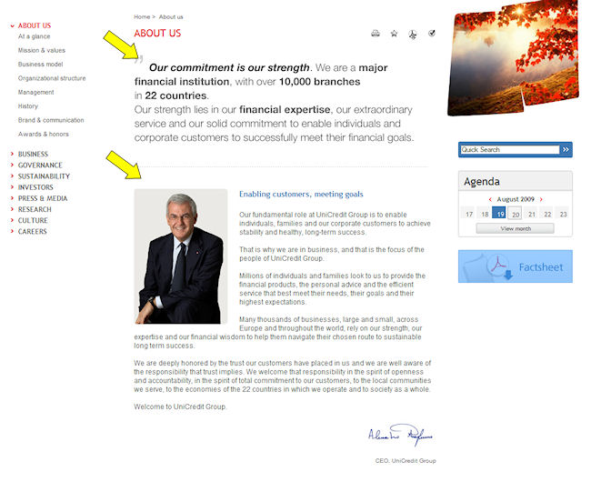 unicreditaboutus UniCredit Group  Homepage and Integrity