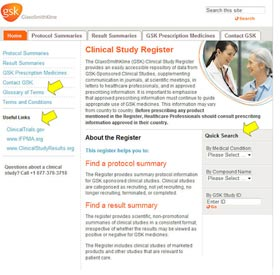 GSK Drug Register