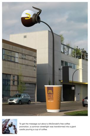 McDonalds ambient media street light