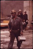 White Miner Leaving Work