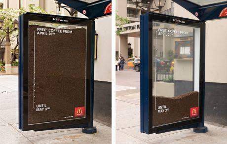 mcdonalds ambient media bus stop