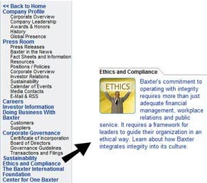 Baxter1 sm Baxter    Treating Ethics As A Serious Corporate Issue