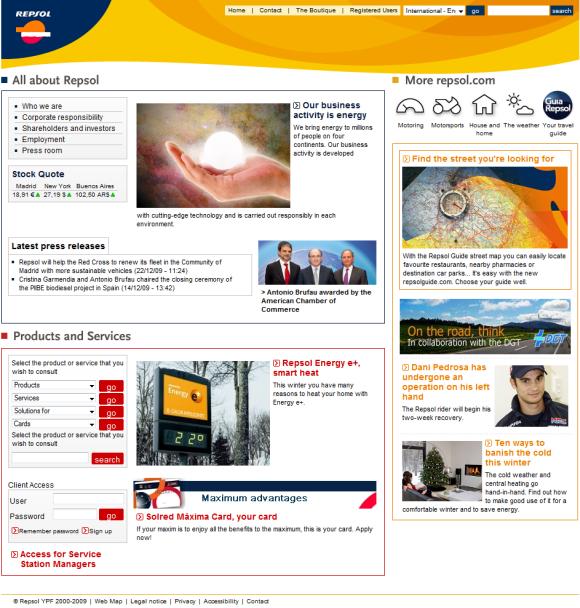 Repsol home page