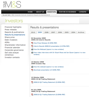 mands sm What Makes for Effective Investor Relations Sites?  Part 11: Make Your Interim Financial Results Easily Accessible 
