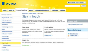 Aviva mobile small What Makes for Effective Investor Relations Sites?  Part 13: Make Your Site More Mobile Friendly