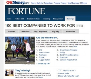 "Fortune 100 300x260 ""New"" Fortune 100 Best Companies to Work For:  Part 1"