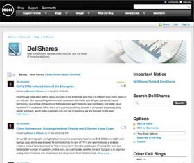 Dell IR blog