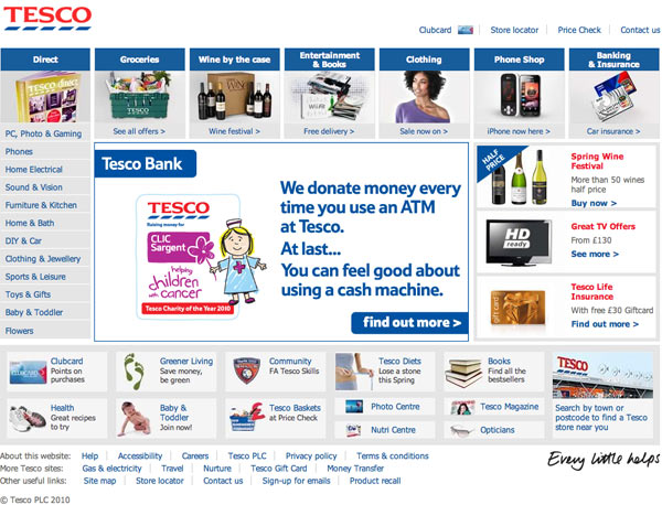 Tesco What Makes for Effective Investor Relations Sites?  Part 16: Visibility