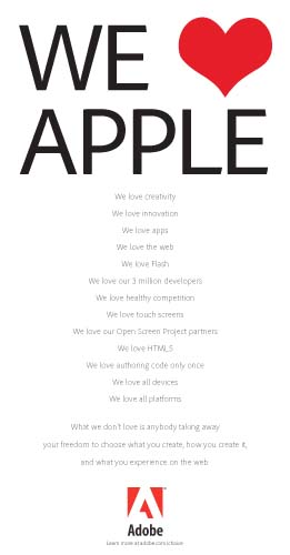 Adobe Apple