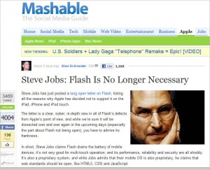 Mashable screenshot 300x243 Farewell to Flash? (And Why That Matters)