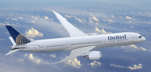 united continental airplane 585px Continental and United Airlines Merger Brings New Brand and Logo   Sort Of