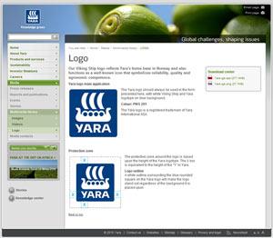 Yara logo guidelines