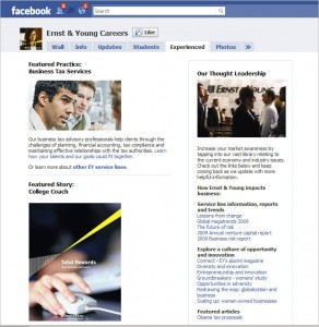 EY Facebook Experienced 292x300 Phenomenal Facebook, Part 2:  Corporate Recruiting
