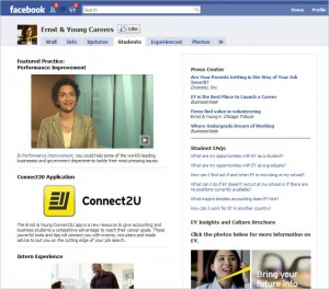 EY Facebook Students 300x264 Phenomenal Facebook, Part 2:  Corporate Recruiting
