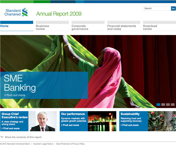 Standard Chartered Annual Report Home