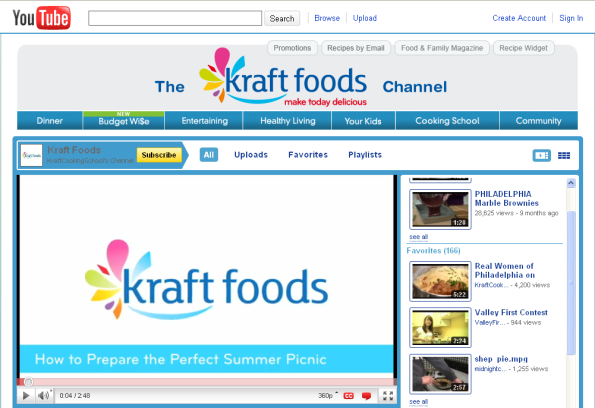 youtube-channel-kraft-foods