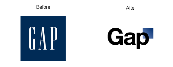 gap logo Goodbye New Gap Logo   Welcome Back Old Gap Logo