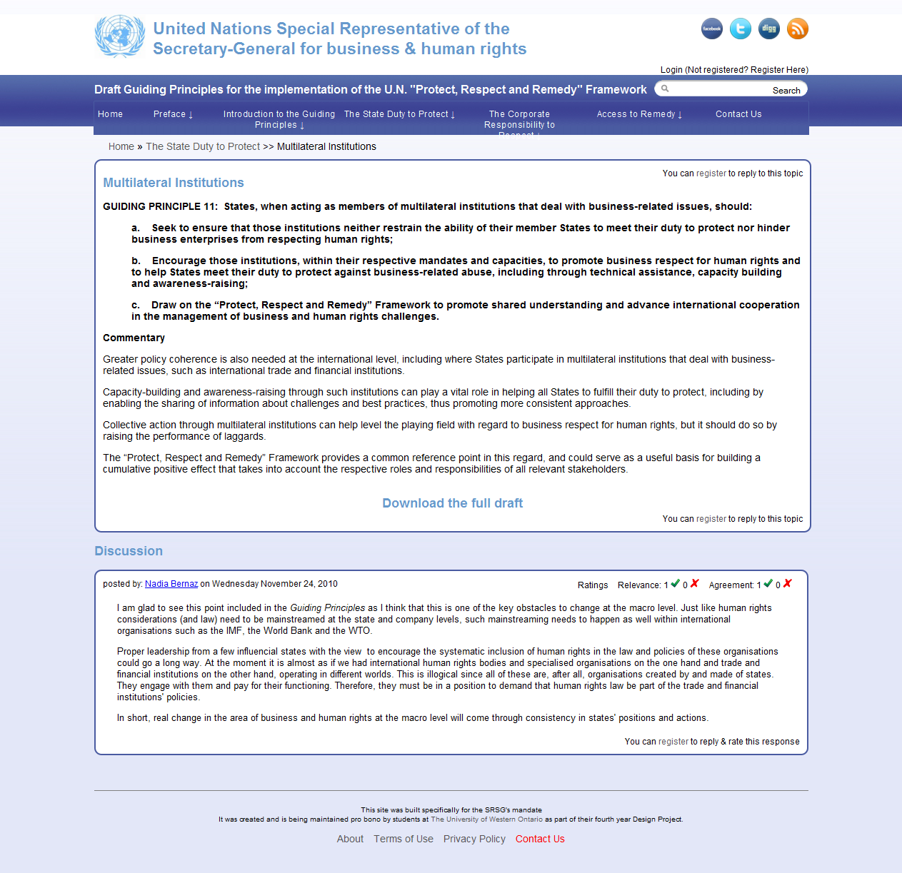 UN SGRS HR consultation