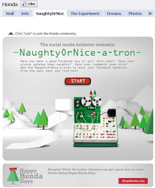 Honda-Naughty-or-Nice_facebook-app
