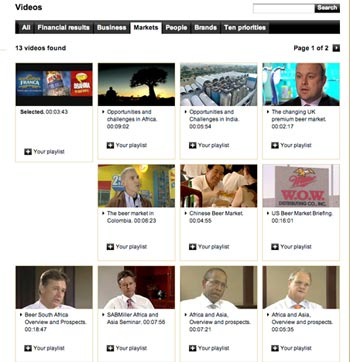 SABMiller videos What Makes for Effective Investor Relations Sites?  Part 34: Video