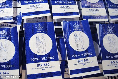 royal wedding merchandise throne up sick bags Cashing in on the Royal Wedding   5 Bizarre Royal Wedding Merchandise Options