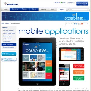 pepsico app s Your Jobs In Their Hands: Mobile Recruiting
