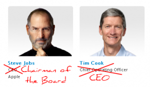 steve jobs tim cook apple 300x174 Steve Jobs Resigns as Apple CEO Marking the End of an Era