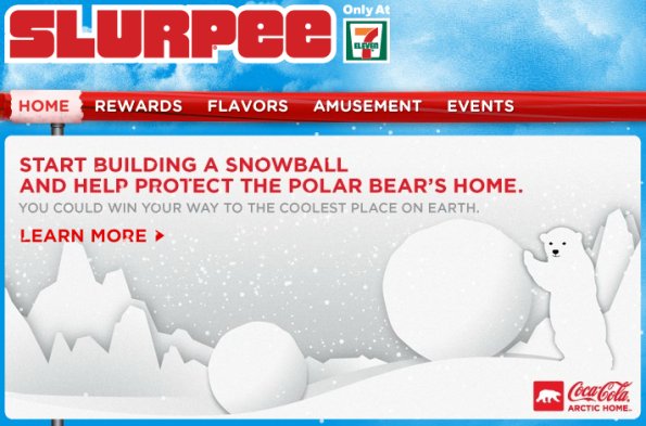 slurpee arctic home Coca Cola Launches National QR Code Program in the United States
