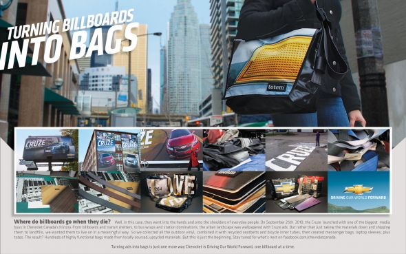chevrolet cruze tote bags How Brands Are Connecting Outdoor Advertising to Facebook
