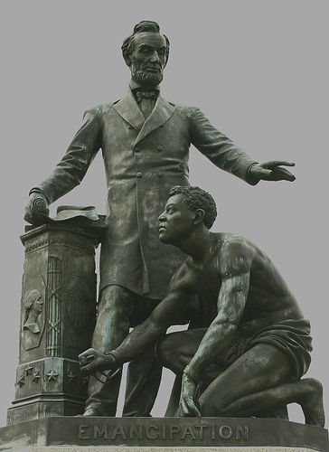 Emancipation statue in Lincoln Park