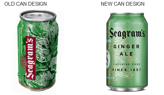 seagrams can design Seagrams Rebranding Focuses Sophistication