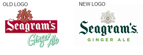 seagrams logo Seagrams Rebranding Focuses Sophistication