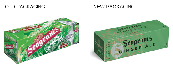 seagrams packaging Seagrams Rebranding Focuses Sophistication